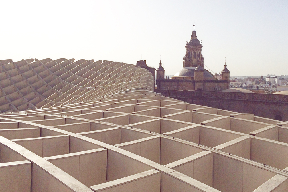 The skyline of Seville as seen from the Metropol Parasol