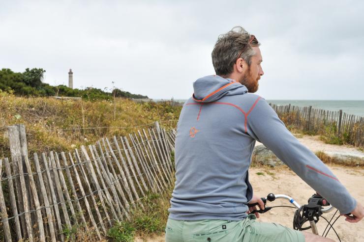 Man on bike admiring open ocean