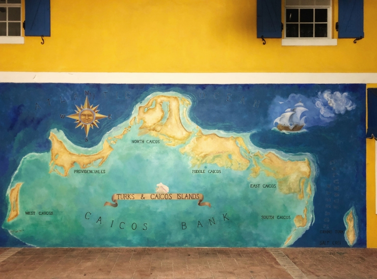 Painted mural of Turks and Caicos