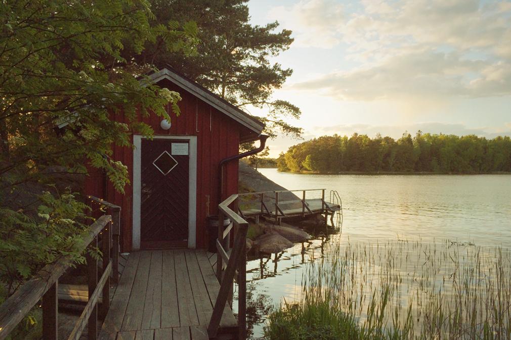 A small sauna (bastu) on an island in the Swedish archipelago