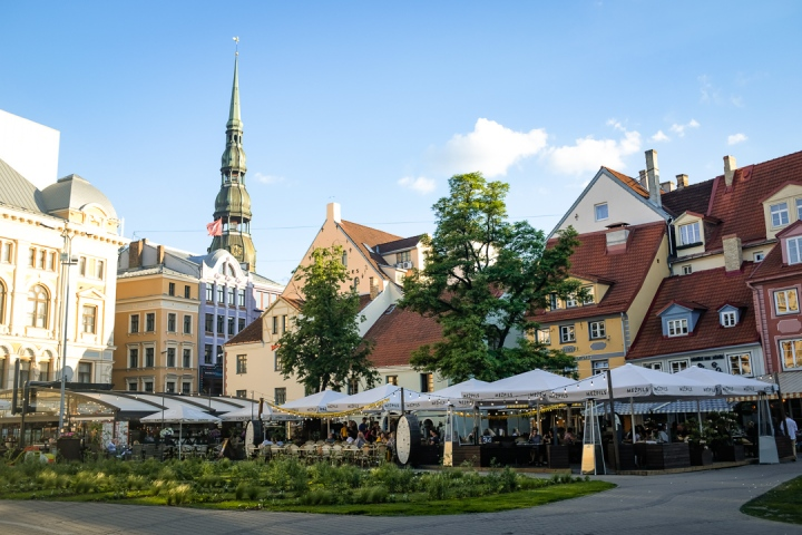 Old town square of Riga, Latvia