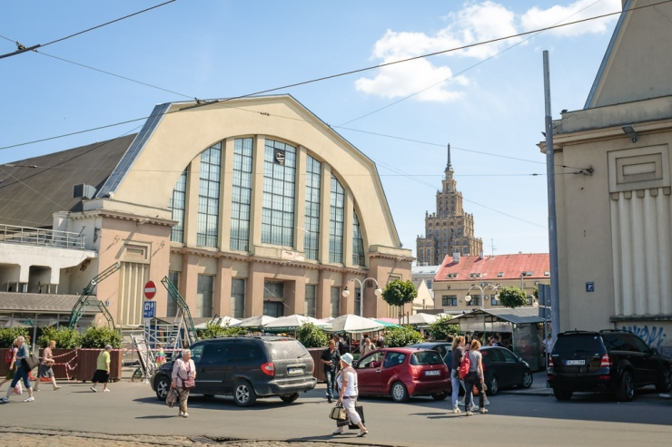 Former zeppelin hangars have been transformed into Riga's Central Market
