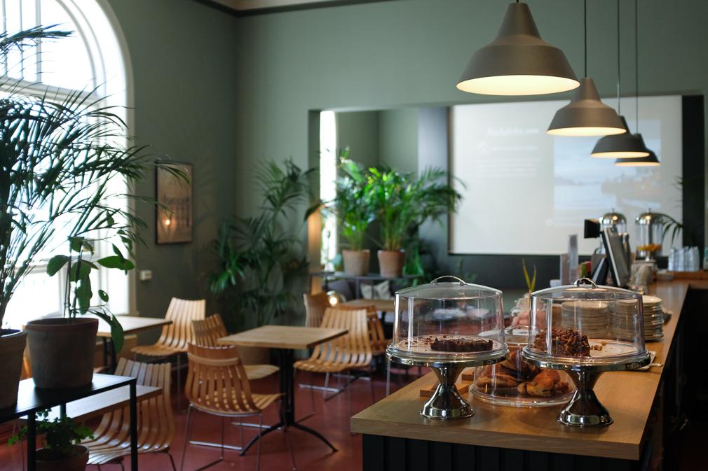 The interior of a Scandinavian café