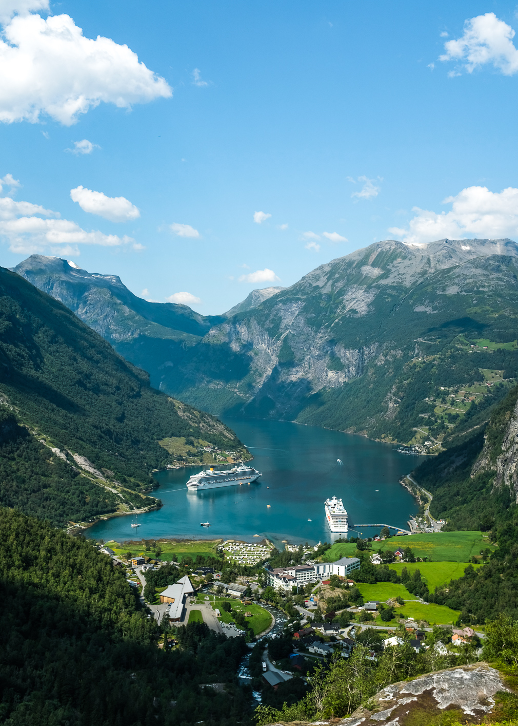 View of the famous Geirangerfjord in Norway