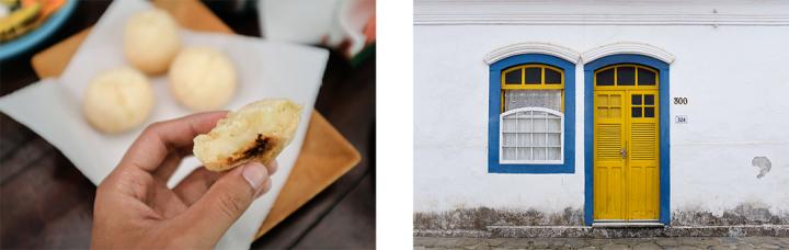Brazilian cheese bread and scenes from Paraty, Brazil