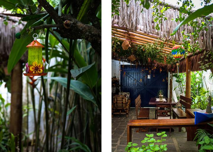 The inside of a Brazilian Pousada in Paraty