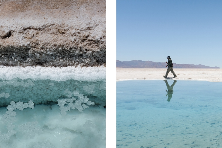 Salt landscapes of Salinas Grandes in northwestern Argentina