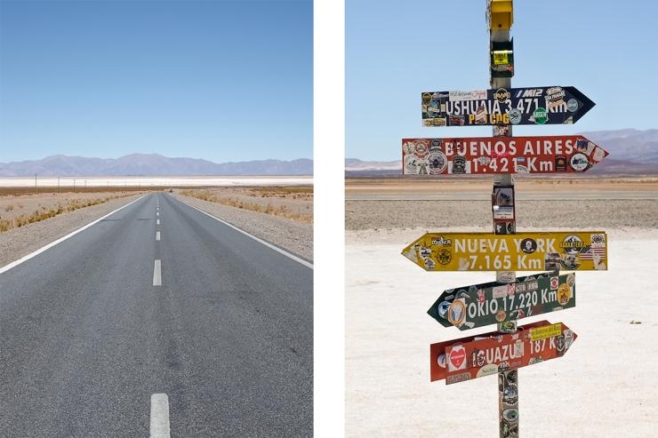 Empty highway scenes in northwestern Argentina