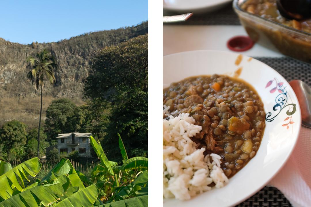 A banana plantation and cachupa, Cabo Verde's national dish