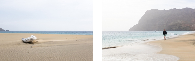 Images of a sandy and windswept beach