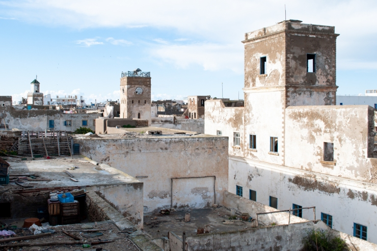 The rustic skyline of Essaouïra by the sea