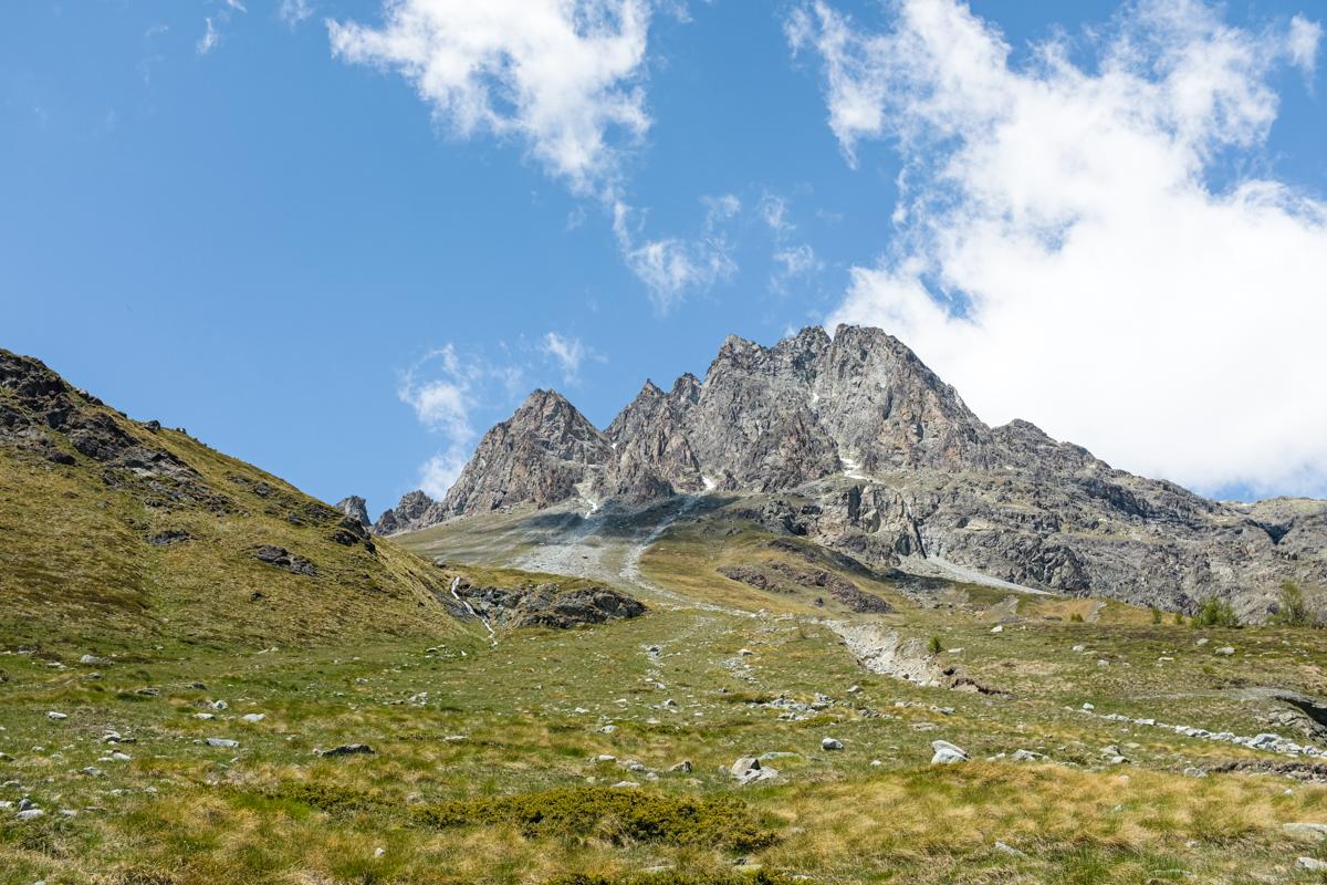 View of the alpine tundra landscape