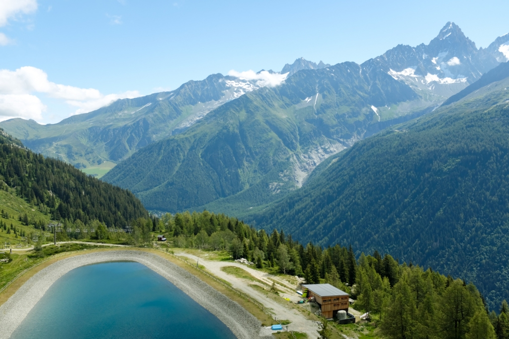 A mountain lake high in the Alps
