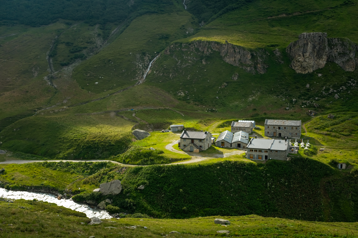 A mountain refuge close to the bottom of the valley