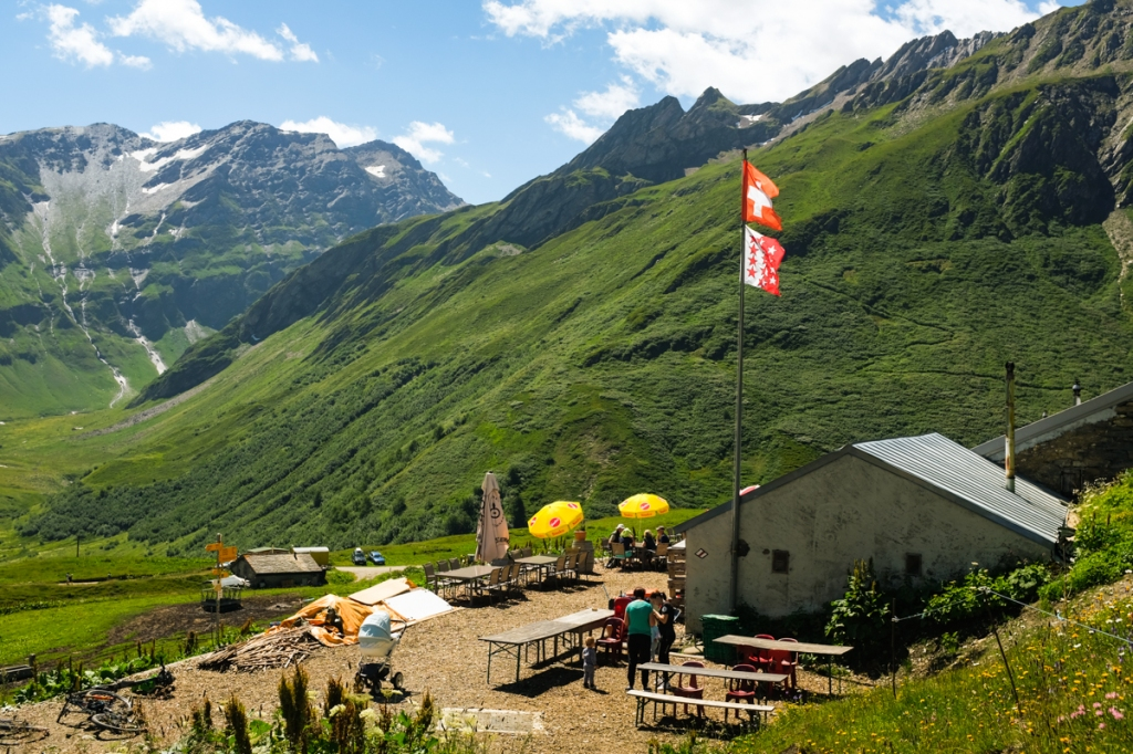 A mountain refuge in the Swiss Alps