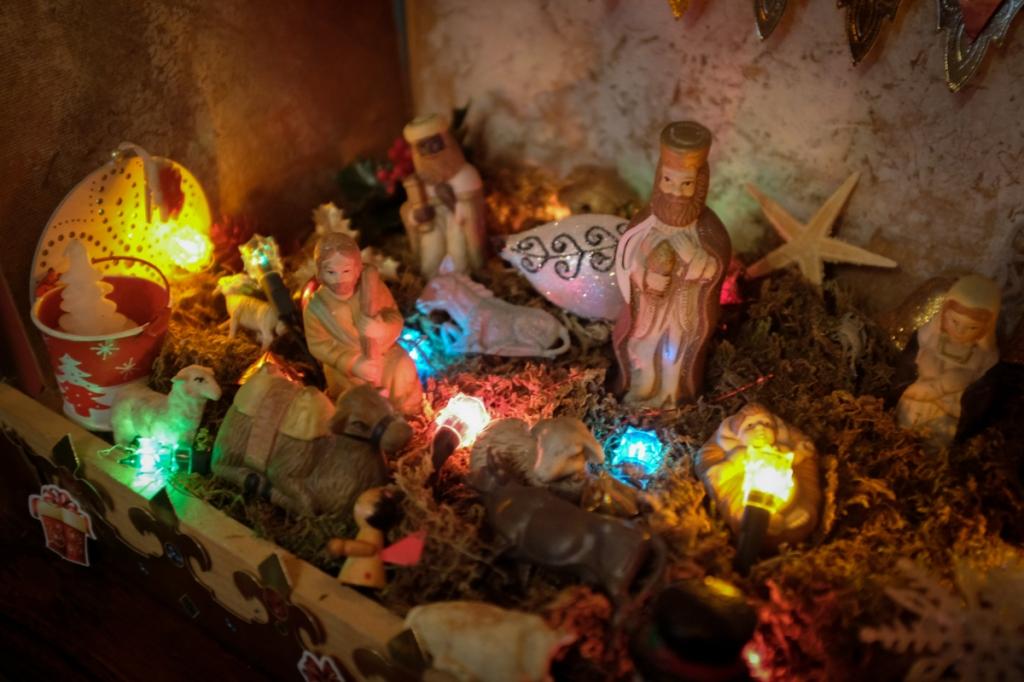 A crèche or Nativity Scene